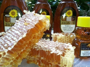 Delicious backyard Honey comb and honey